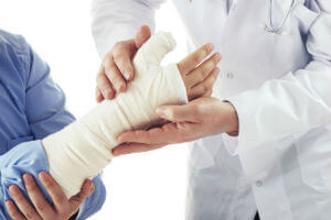 checking a wrist injury