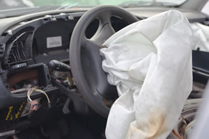 ruptured Takata airbag